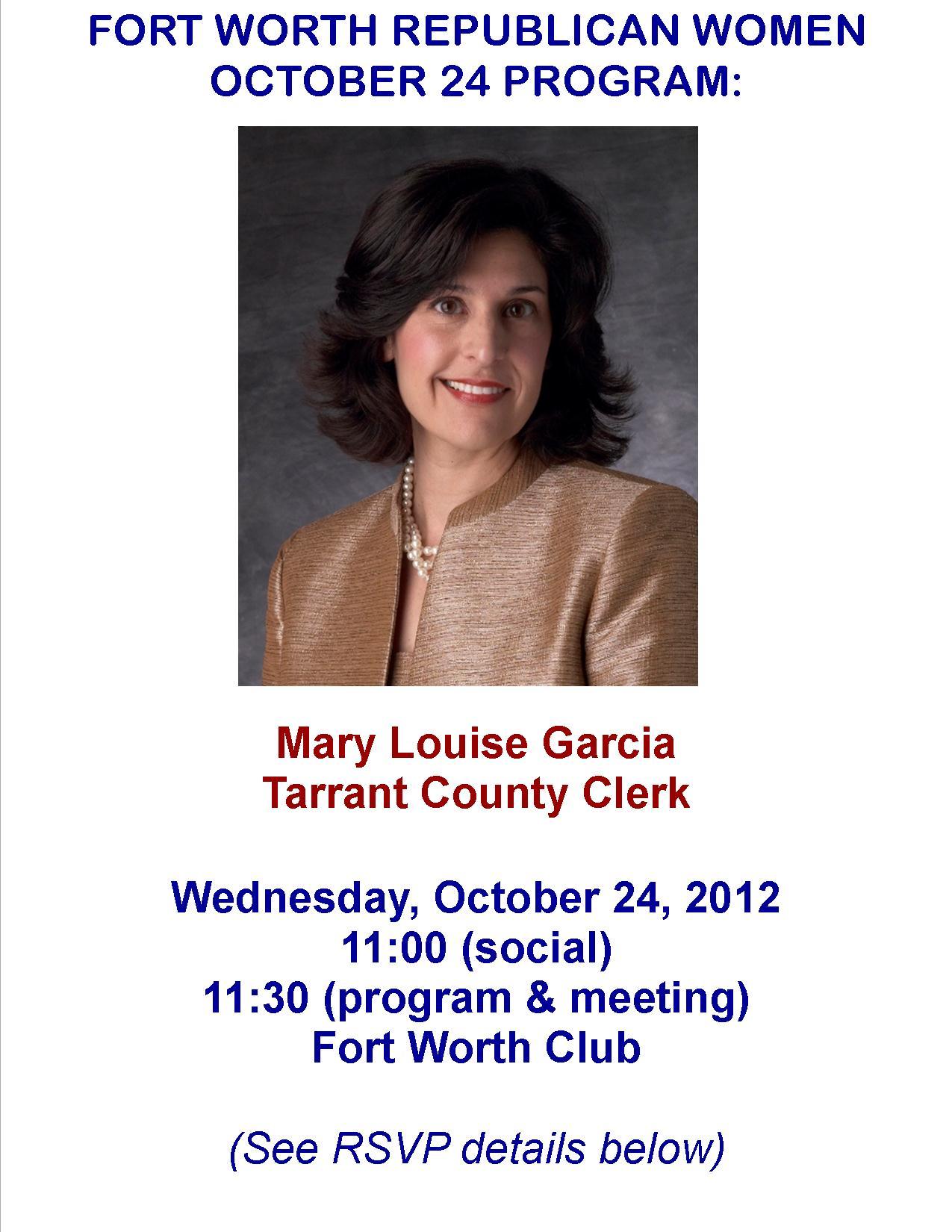 Mary Louise Garcia   FORT WORTH REPUBLICAN WOMEN
